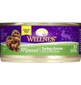 Wellness 5.5oz Cat Can Minced Turkey, GF