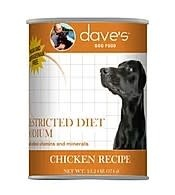 Dave's Restricted Diet Sodium – Chicken Recipe Canned Dog Food, 13oz