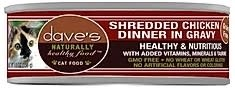 Dave's Naturally Healthy Grain Free Cat Food Shredded Chicken