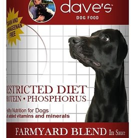 Dave's Restricted Diet Protein Phosphorus – Farmyard Blend Canned Dog Food, 13oz