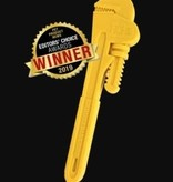 "8.5"" PIPE WRENCH ULTRA DURABLE NYLON DOG CHEW TOY FOR AGGRESSIVE CHEWERS - YELLOW"