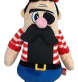 Mega Mutt Bearded Pirate Plush Dog Toy