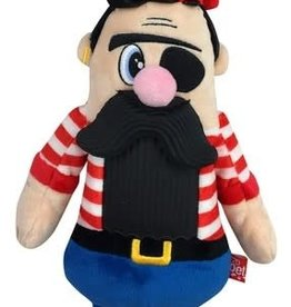 Mega Mutt Bearded Pirate Plush Dog Toy