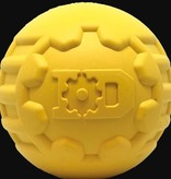 ID BALL - ULTRA-DURABLE RUBBER CHEW BALL - LARGE - YELLOW