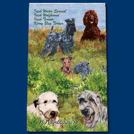 Ball Point Pen Irish Spaniel, Wolfhound, Terrier & Kerry Blue