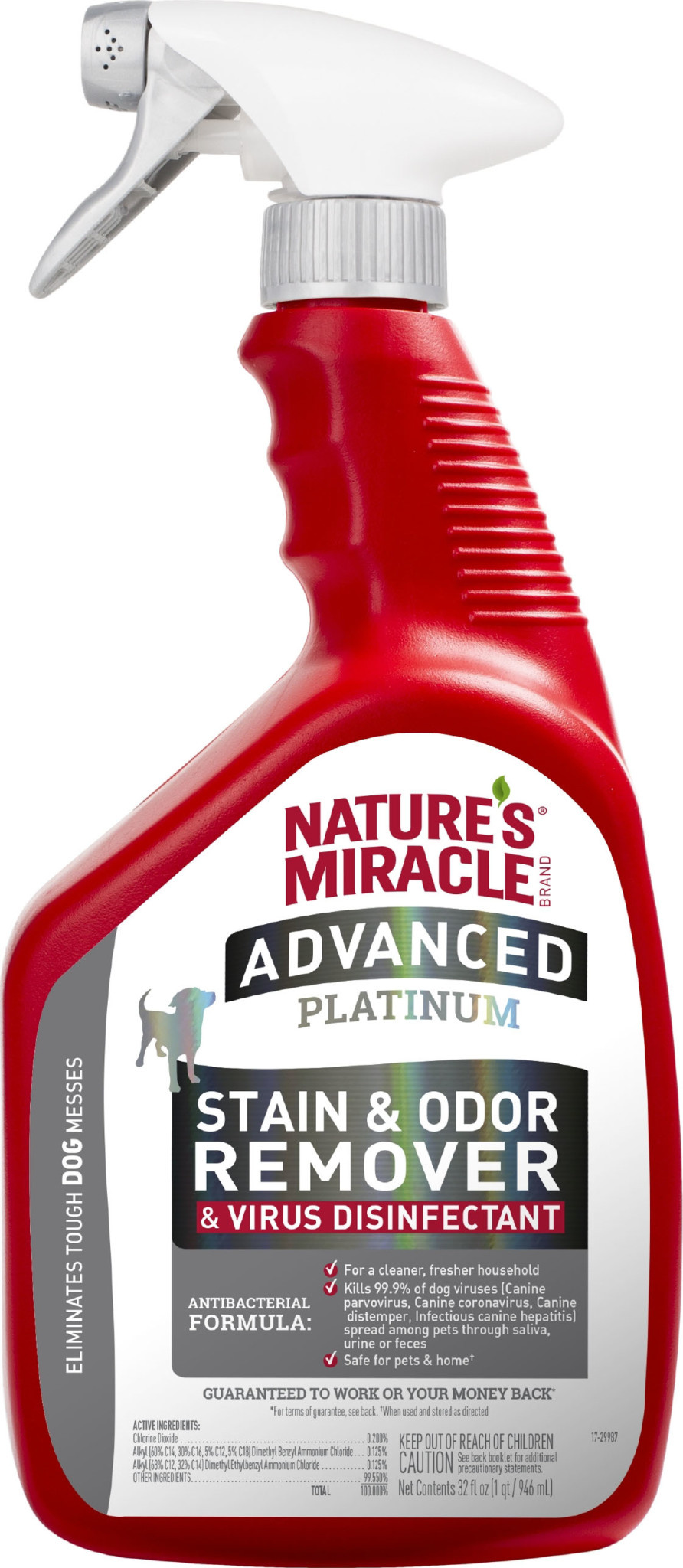 Natures Miracle ADVANCED STAIN & ODOR VIRUS DISINFECTANT SPRAY DOG
