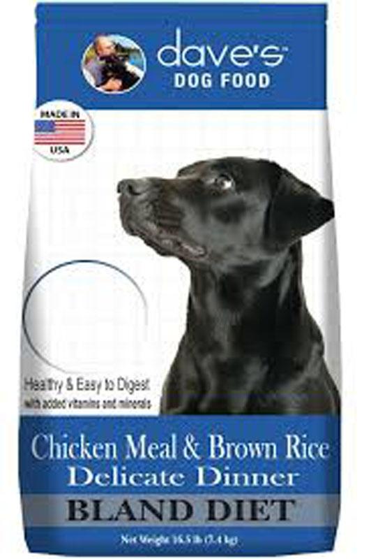 DAVES 4 LB DOG DRY CHICKEN & BROWN RICE BLAND DIET