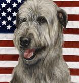 Large Flag Irish Wolfhound