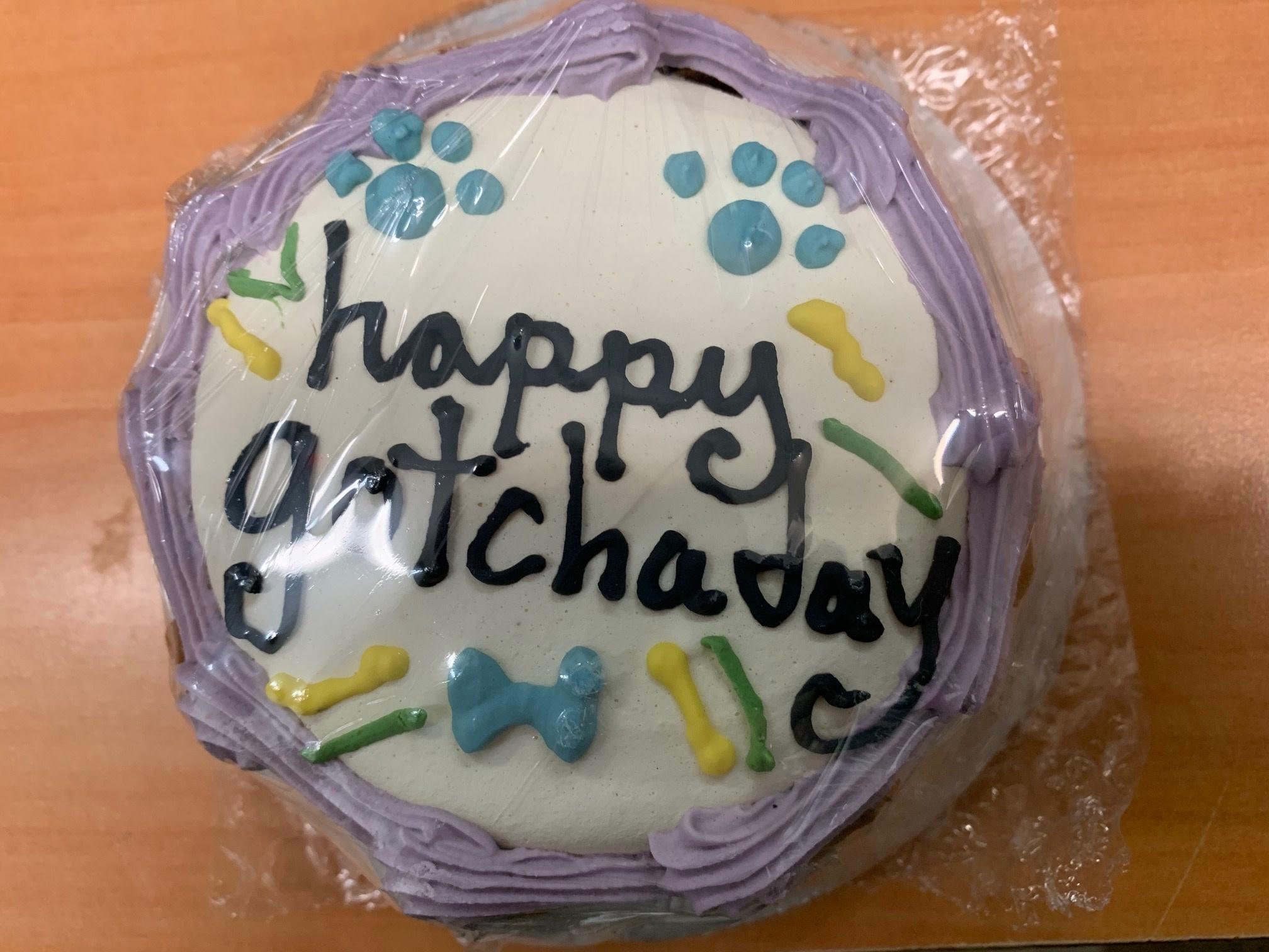 Happy Gotcha Day Cake - Shelf Stable