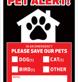 DECAL - PET ALERT (paw in house)
