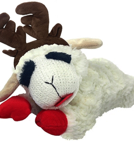 MULTIPET Holiday Lamb Chop w/Antlers 10.5""