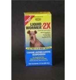 Durvet 2oz Liquid Wormer 2x   Ingredients 4.54mg Pyrantel Pamoate Per Ml