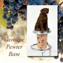 Bottle Topper-Labrodor Retriever  Chocolate