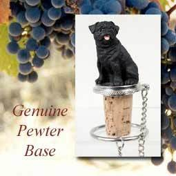 Bottle Topper-Pug Black
