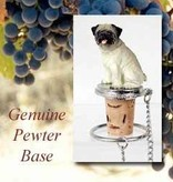 Bottle Topper-Pug Fawn