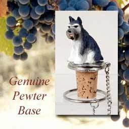 Bottle Topper-Schnauzer, Gray