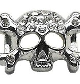 "3/8"" Skull Slider Charm Clear 3/8'' (10mm)"