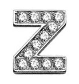 Z -  Clear Bling Letter Sliding Charms