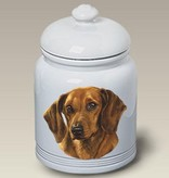 Cookie Jar Dachshund Red