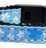 Butterfly Nylon Ribbon Collar Blue Cat Safety