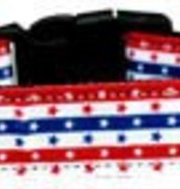 Stars in Stripes Nylon Dog Collar Medium