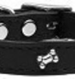 Bone Leather Black Size 18 Collar