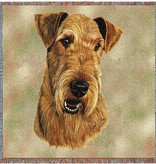 "54"" Lap Square Airedale Terrier"