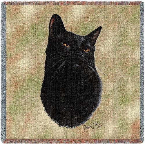 "54"" Lap Square Cat-Black"