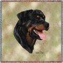 """54"""" Lap Square Rottweiler"""
