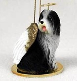 Angel Ornament Bearded Collie