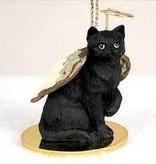 Angel Ornament Cat Black