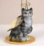 Angel Ornament Cat-Silver