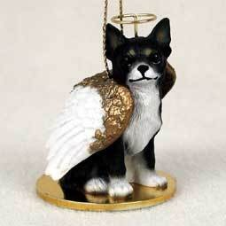 Angel Ornament Chihuahua-Blk/White