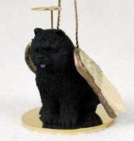 Angel Ornament Chow Chow Black