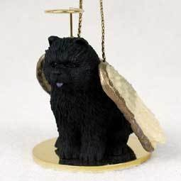 Angel Ornament Chow Chow Black