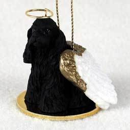 Angel Ornament Cocker Spaniel-Black