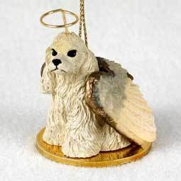 Angel Ornament Cocker Spaniel-Blonde