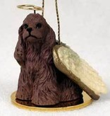 Angel Ornament Cocker Spaniel-Brown