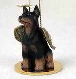Angel Ornament Doberman Pincher-Black