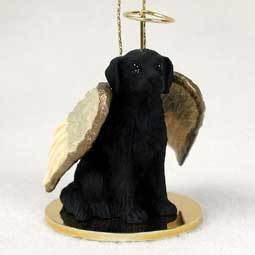 Angel Ornament Flat-Coated Retreiver