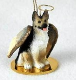 Angel Ornament German Shepherd-Blk/Tan