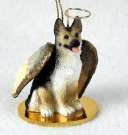 Angel Ornament German Shepherd-Blk/Tan