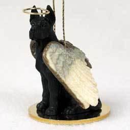 Angel Ornament Great Dane Black