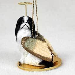 Angel Ornament Japanese Chin-Black/Wht