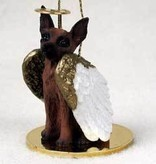Angel Ornament Miniature Pinscher-Red/Bro