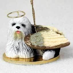 Angel Ornament Old English Sheepdog