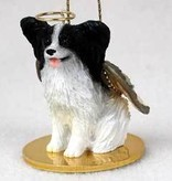 Angel Ornament Papillion-Black/Wht