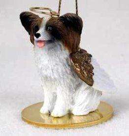 Angel Ornament Papillion-Brown/Wht