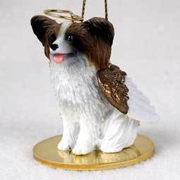 Angel Ornament Papillion-Brown/Wht
