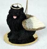 Angel Ornament Pomeranian-Black